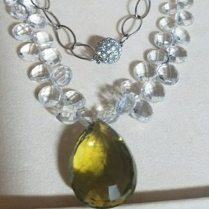 ELEGANT LEMON CITRINE BRIOLETTE NECKLACE